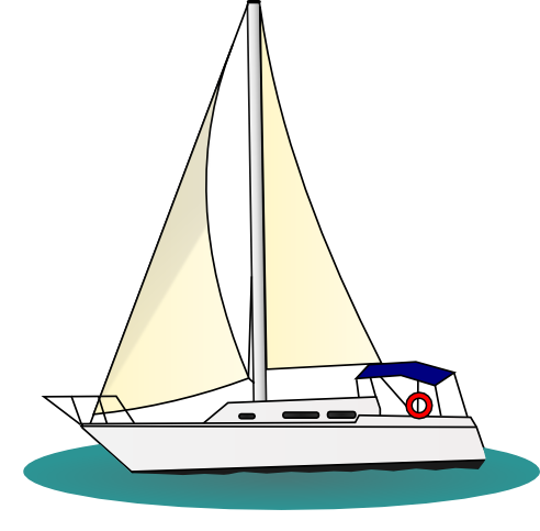 clip stock Row boat dinghy free. Yacht clipart water transportation
