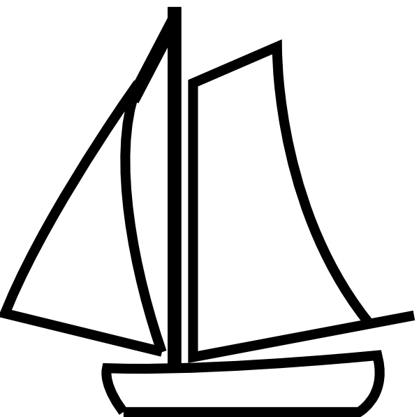 picture royalty free download Sailing silhouette at getdrawings. Boat clipart dinghy