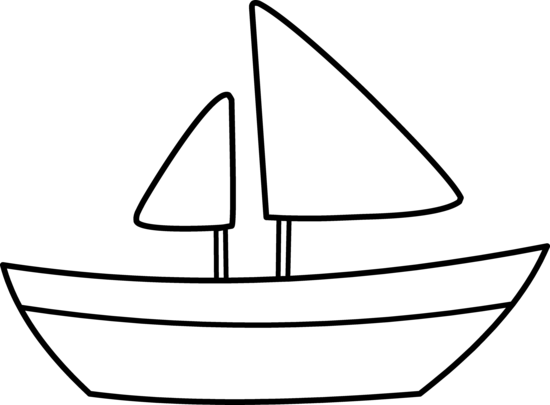 image freeuse stock Easy Boat Outline Clipart