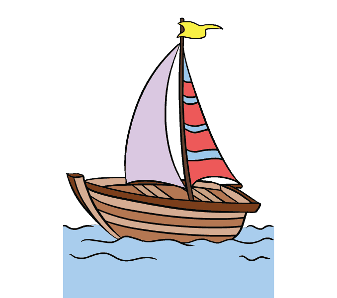 graphic royalty free library How to draw a. Boats drawing