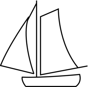 png library Boats drawing black and white. Simple sailboat clipart panda