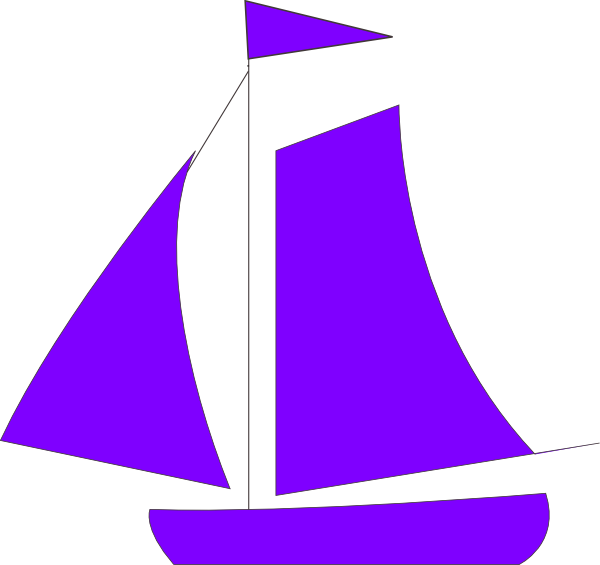 svg transparent library Sail clip art at. Boat clipart purple