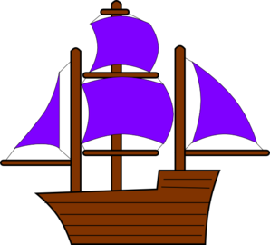 clip art royalty free library Pirate ship clip art. Boat clipart purple