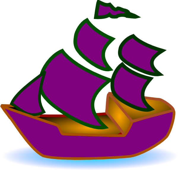 image black and white Boat clipart purple. Clip art at clker