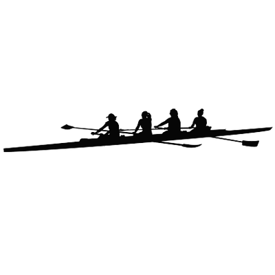 picture free library Boat clipart row boat. Silhouette of a at