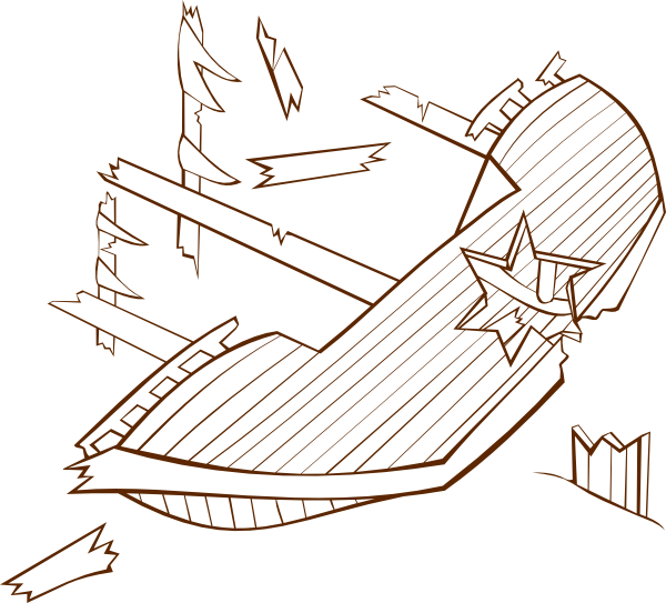 png free stock Boat clipart shipwrecked. Shipwreck clip art at