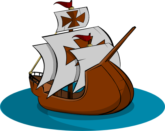 library Sailing Ship Clipart line