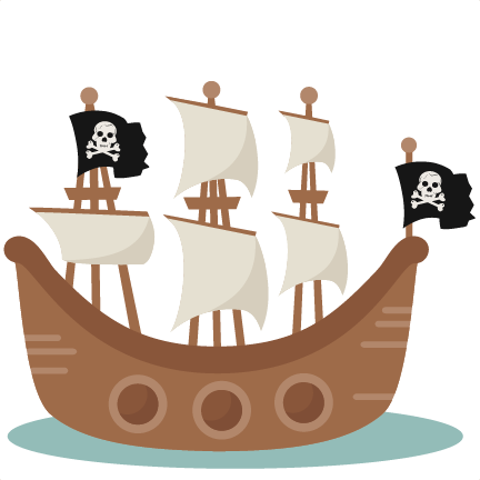 graphic freeuse library Pirate ship scrapbook cut. Boat svg cartoon