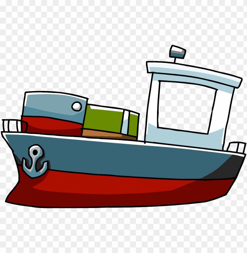 banner freeuse download Cartoon png cargo ship. Boat svg comic