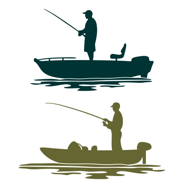 svg black and white download Boat svg fishing. Pin by cuttabledesigns on
