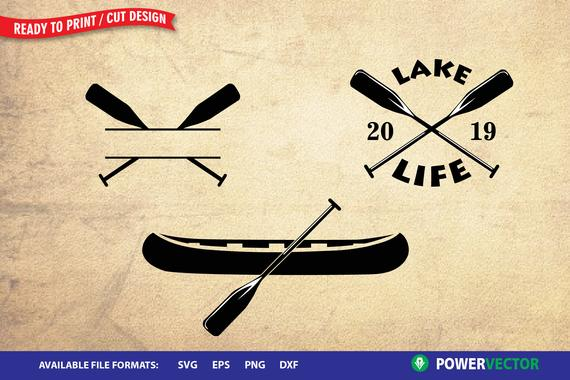 vector freeuse library Lake life clip art. Boat svg paddle