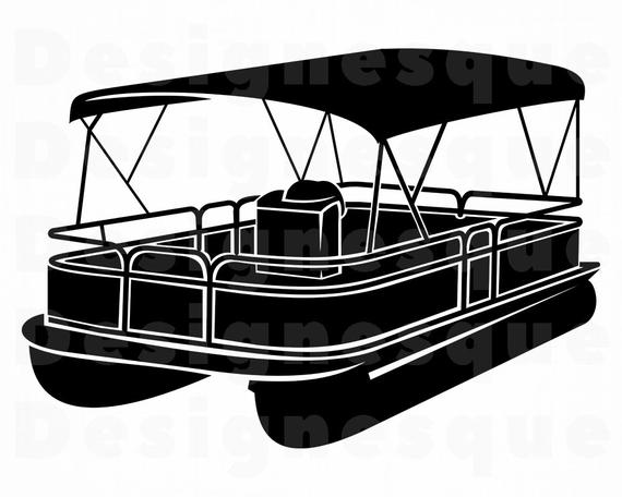 graphic transparent stock Boat svg pontoon. Clipart files for cricut