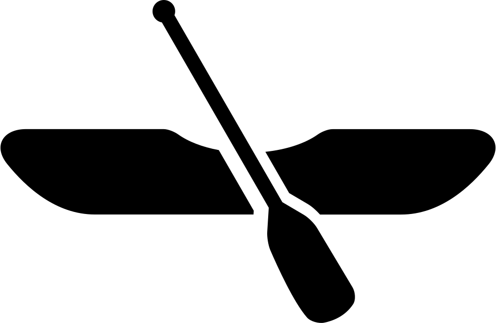svg freeuse stock Canoe with png icon. Boat svg rowing