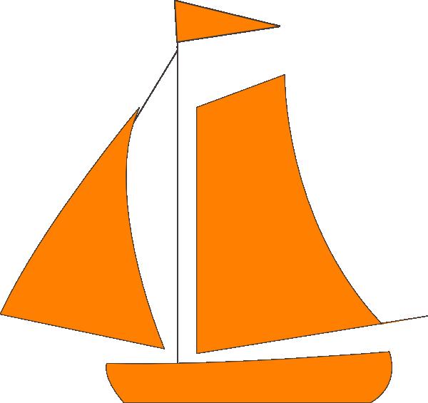 clip royalty free library Boat svg sailing. Orange sail clip art