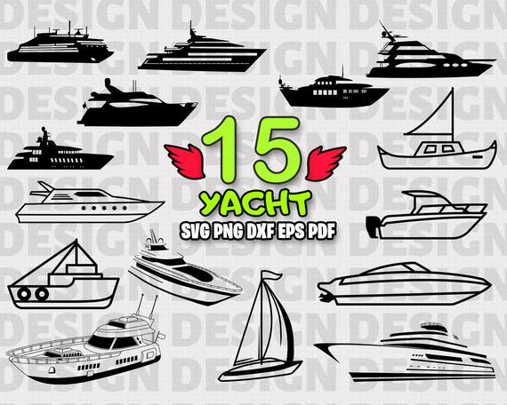 vector black and white Ship trip sailing sailboat. Boat svg yacht