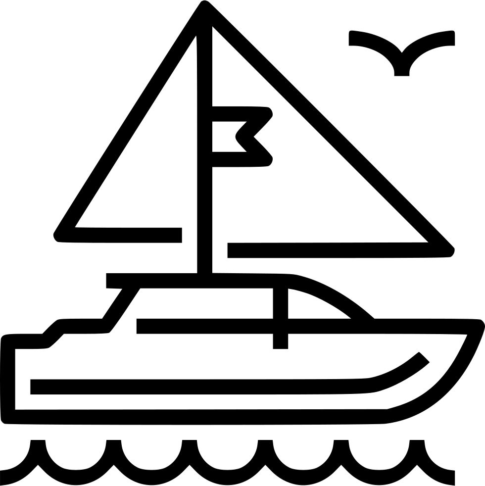 png black and white download Trip png icon free. Boat svg yacht