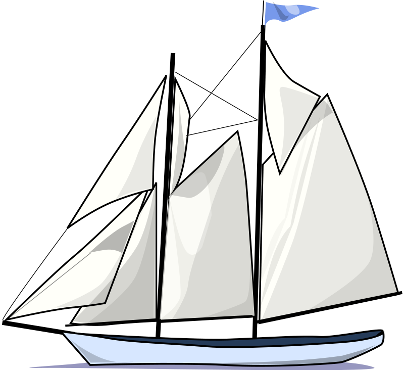 vector royalty free Sail boat silhouette at. Yacht clipart