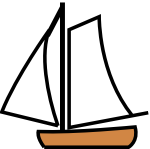 image black and white stock Helping Boats Clipart