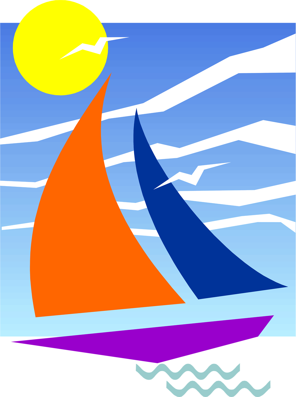 clip freeuse stock Sailboat