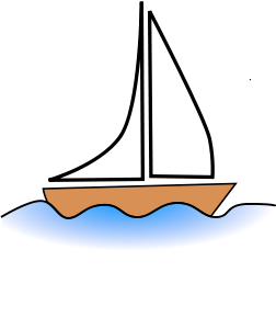 banner free By yves guillou clip. Yacht clipart little boat