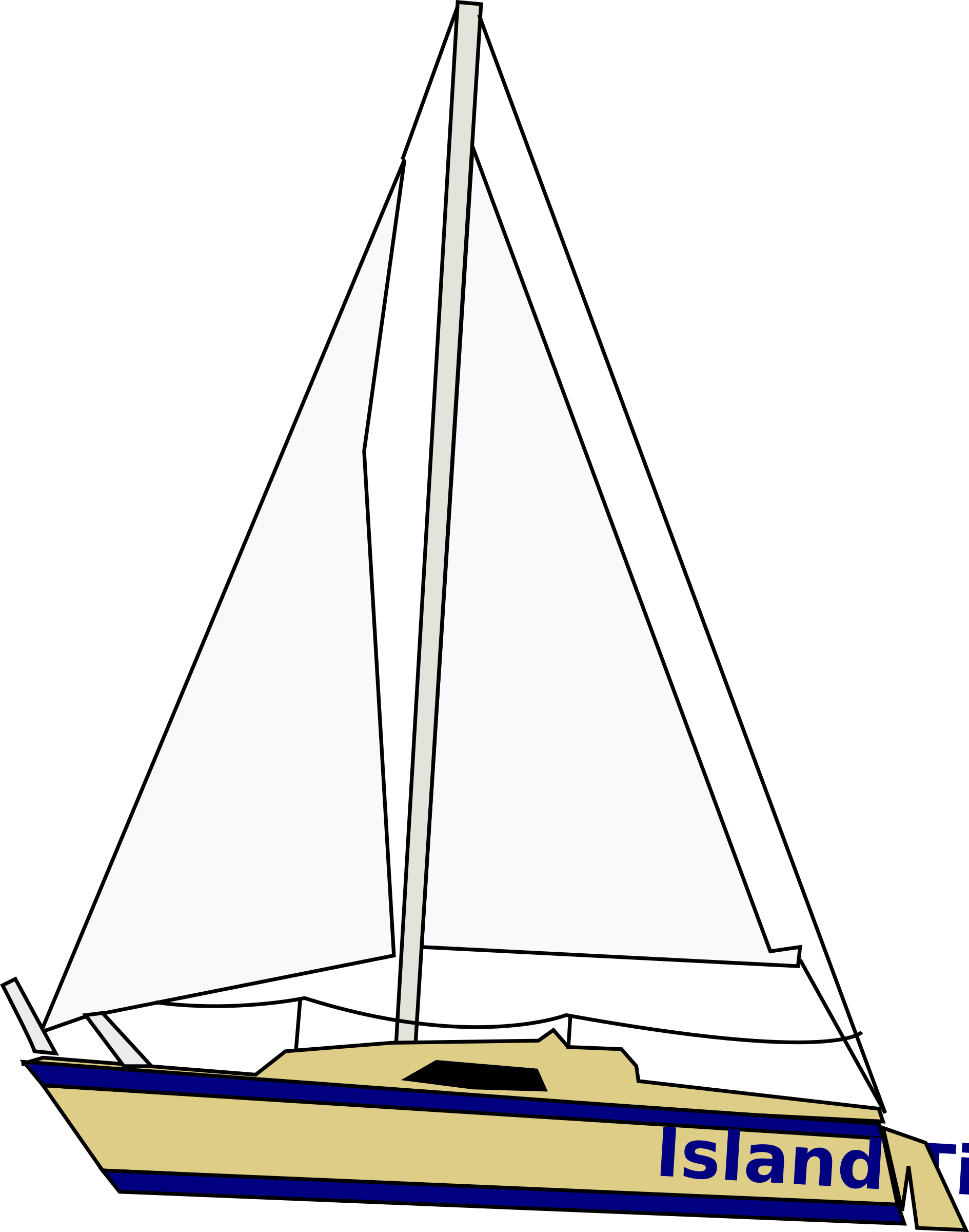banner freeuse Island time sailboat image. Yacht clipart big boat