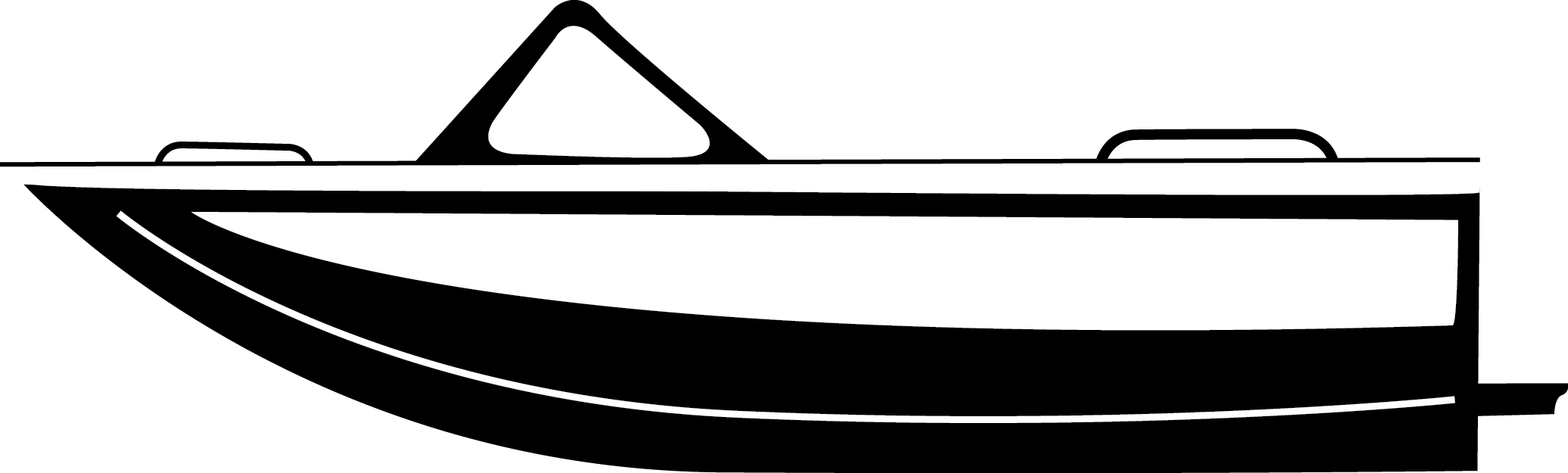 image black and white stock Weldcraft marine river. Vector boat jet