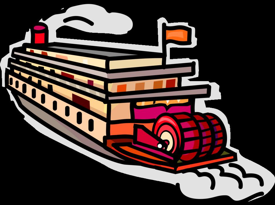 vector royalty free download Boats clipart river boat. Mississippi paddleboat or riverboat