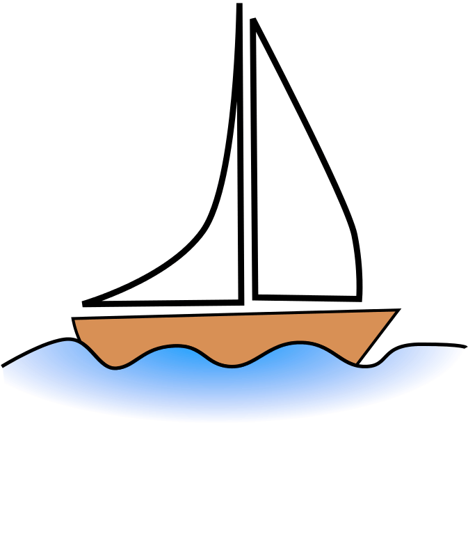 banner black and white download Boats clipart stick figure. Boat