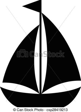 clipart freeuse stock Boats clipart vector. Simple cartoon sailboat icon.