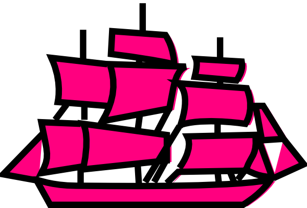 png library Boats clipart vector. Pink boat clip art.