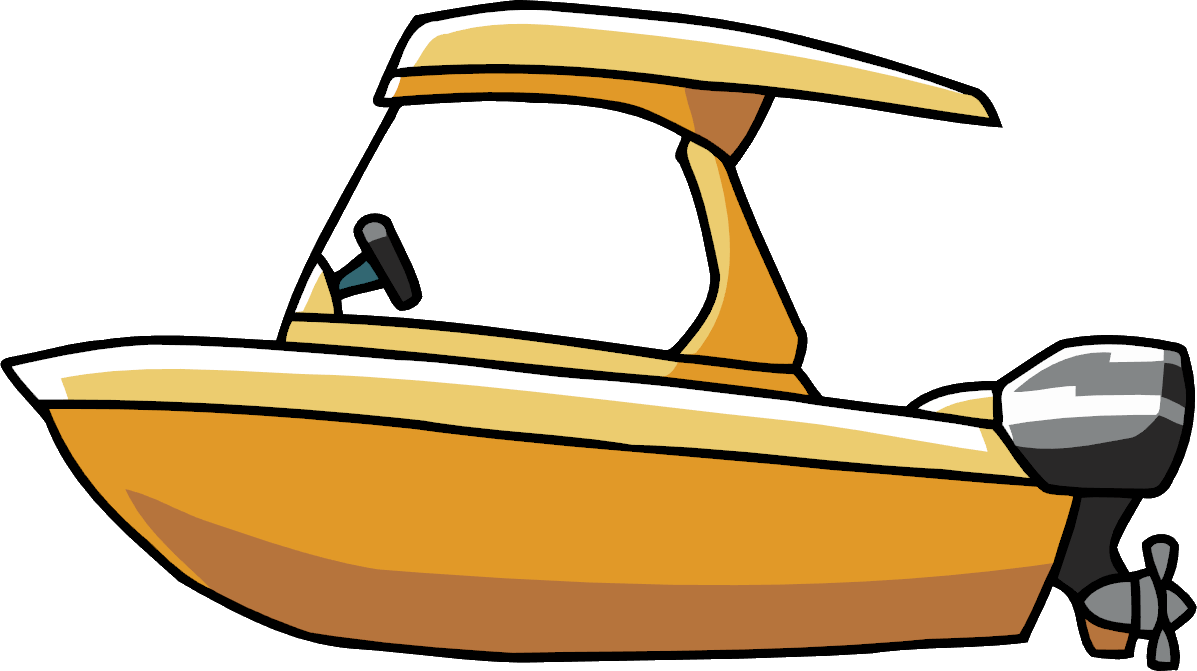 clipart free stock Yacht clipart motor. Power boat scribblenauts wiki