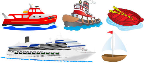 image transparent Rhyme five little with. Boats clipart water transport