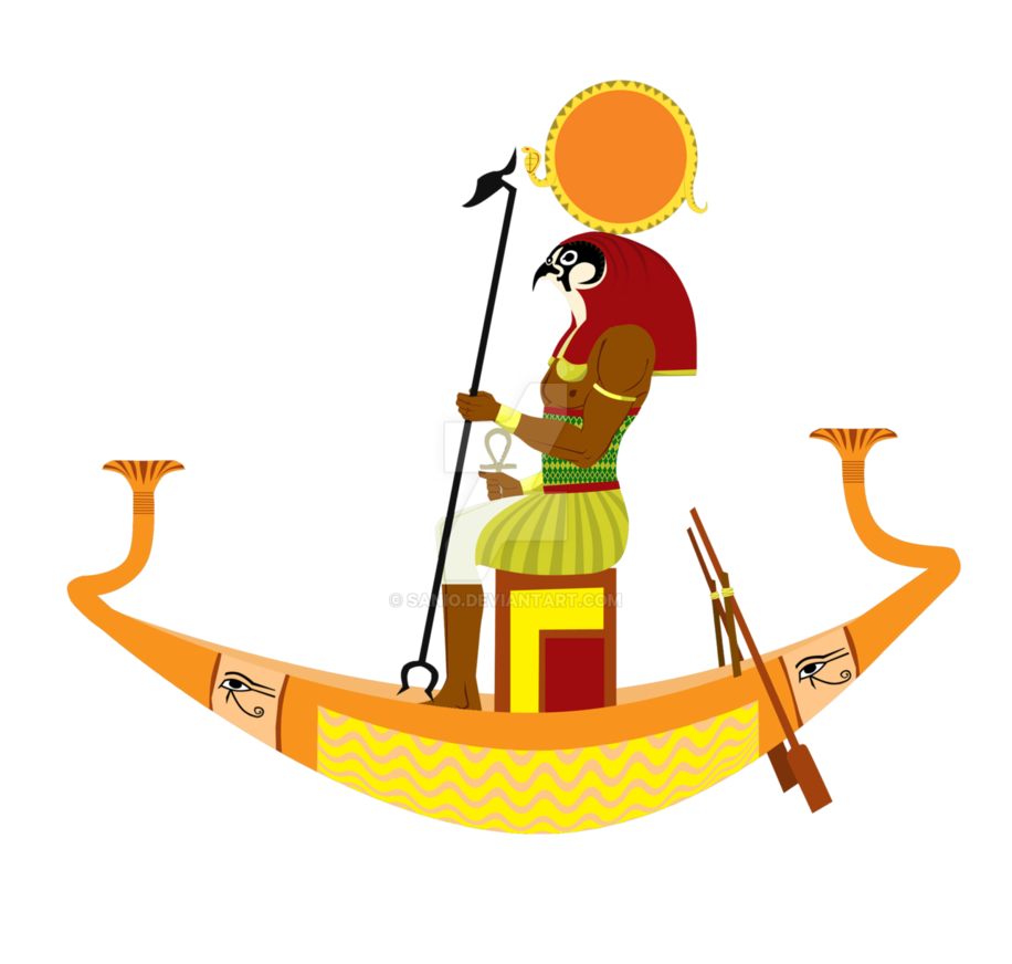 banner transparent library God ra on a. Boats drawing ancient egyptian