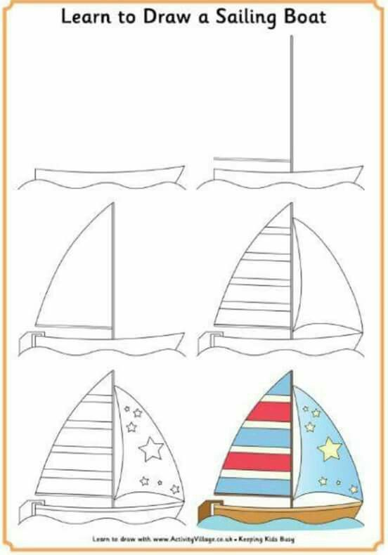 image transparent stock Sailing boat pattern template. Boats drawing basic