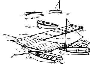 picture royalty free Collection of free docked. Boats drawing cartoon