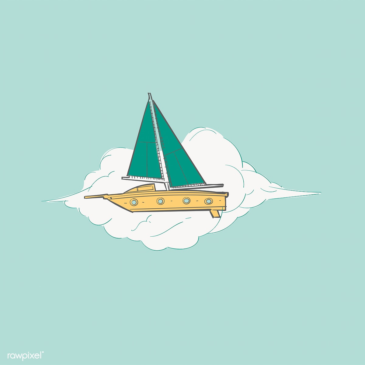 png transparent Boats drawing creative. Artwork boat free stock