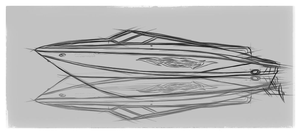 banner black and white  regal speedboat boat. Boats drawing creative