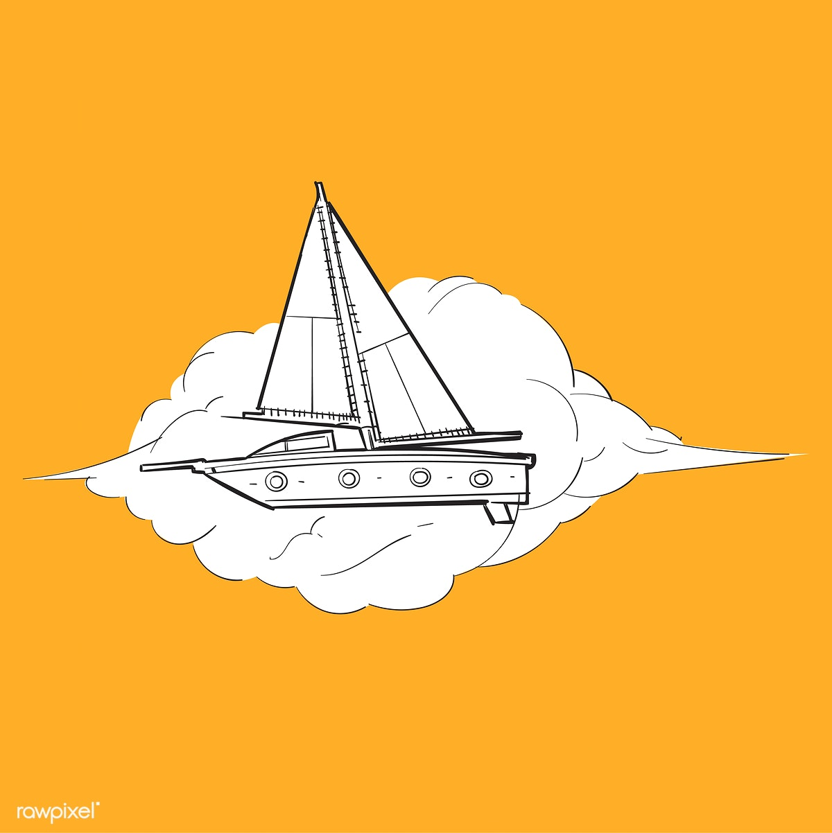 image free stock Download premium illustration of. Boats drawing creative