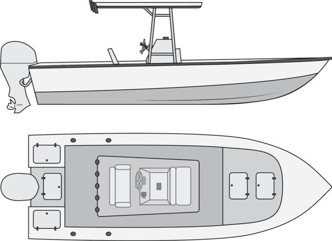 jpg Types of salt water. Boats drawing fishing boat