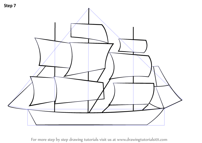 clip royalty free Boats drawing ship. Learn how to draw