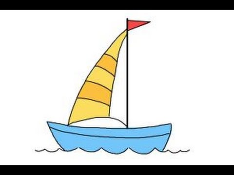 banner royalty free download How to draw a. Boats drawing simple