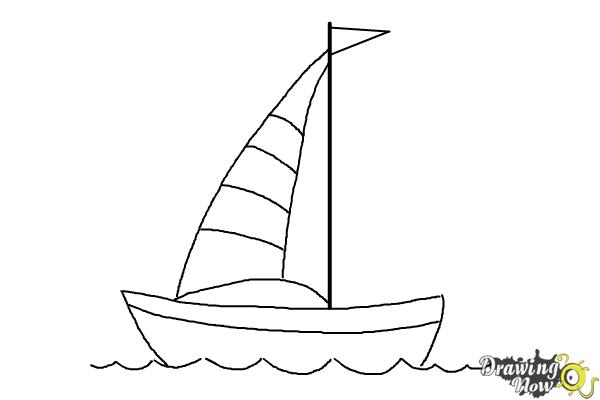 jpg freeuse library How to draw a. Boats drawing simple