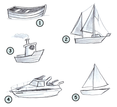 image black and white stock Boats drawing simple. A cartoon boat