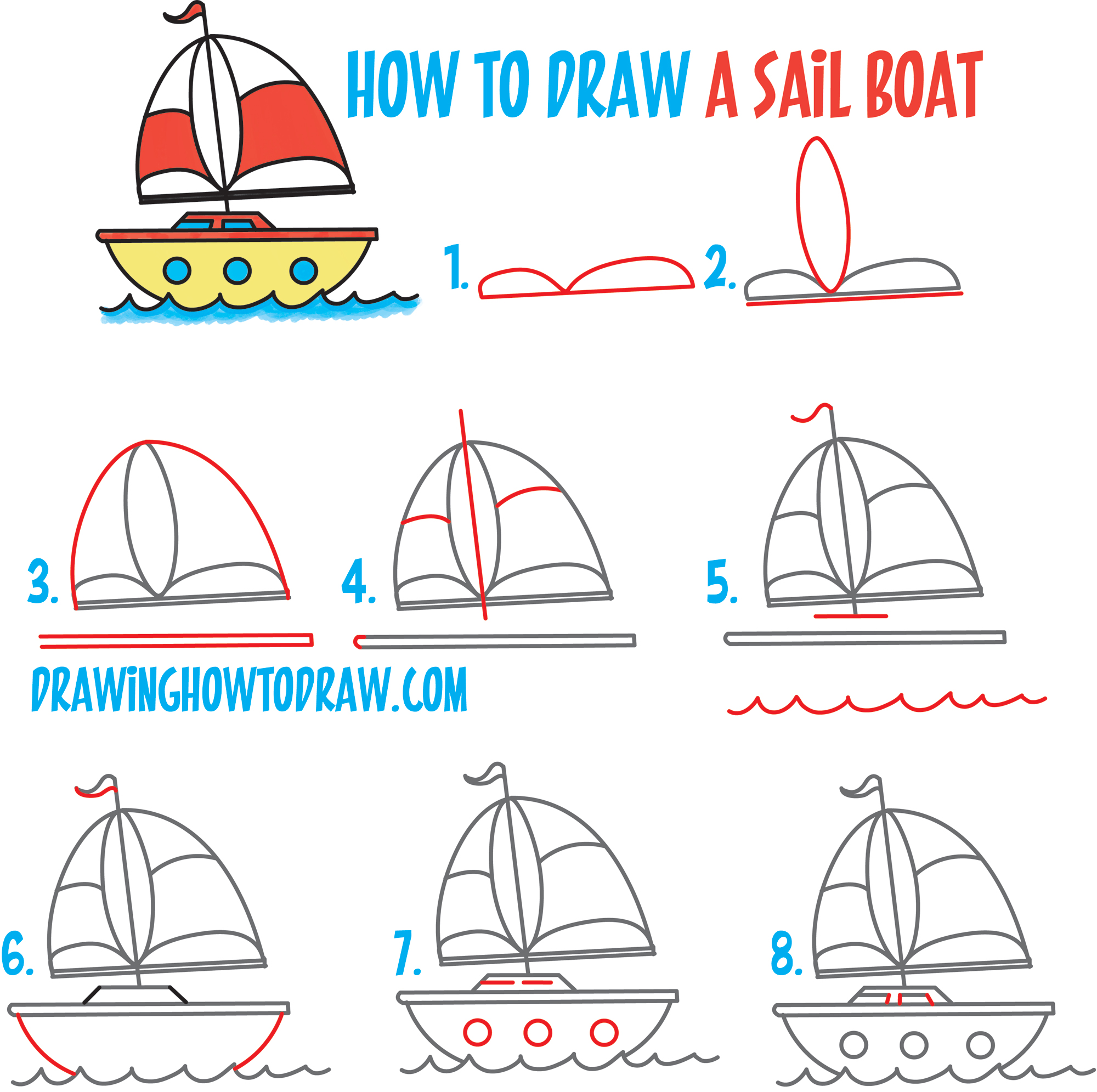 svg download Boats drawing step by. How to draw a