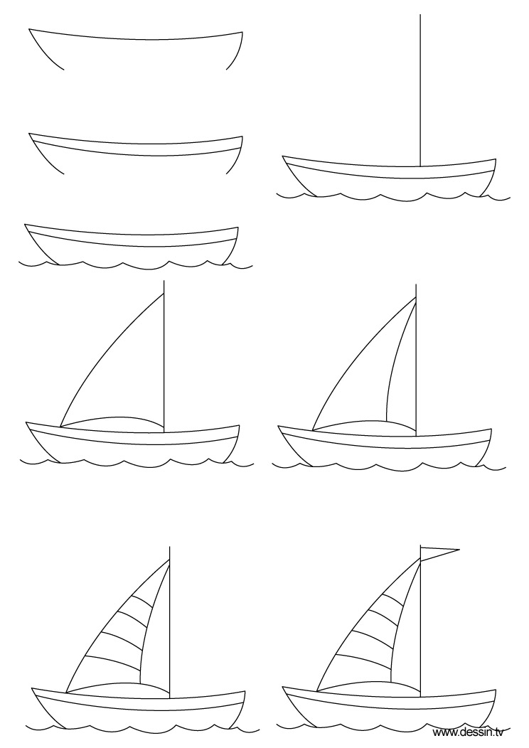 png transparent library Boat . Boats drawing step by