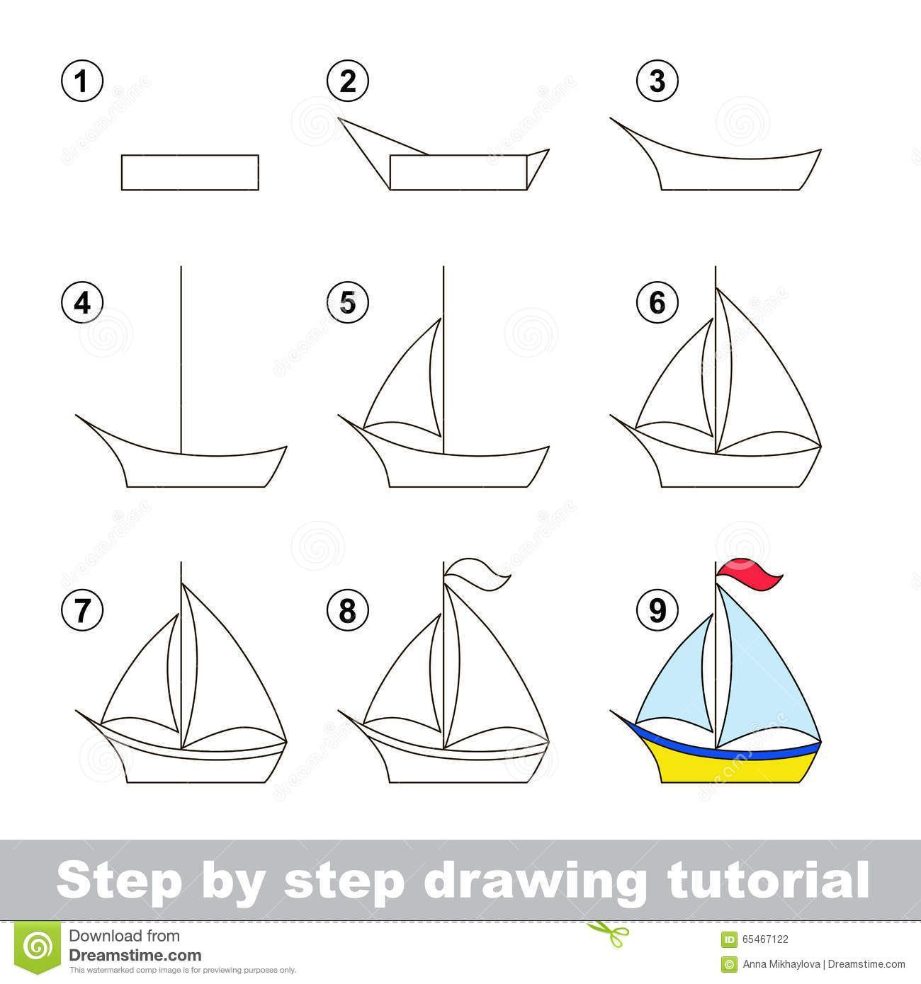 png free stock Boats drawing step by. Tutorial how to draw