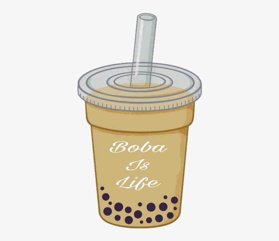 clipart freeuse Boba sticker png free. Tea transparent cartoon bubble