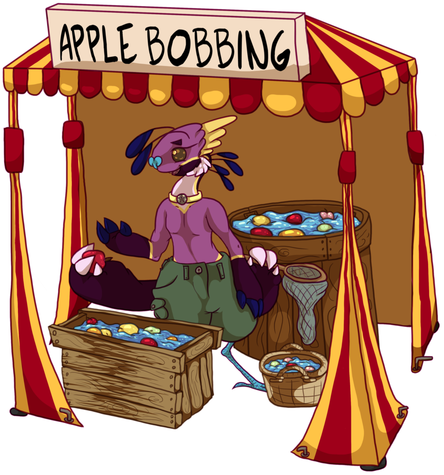 clip transparent library Apple by devidae resource. Bobbing for apples clipart.