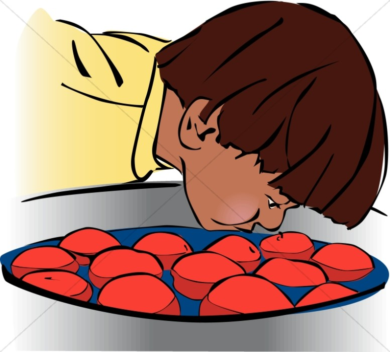clip library library Harvest day . Bobbing for apples clipart.