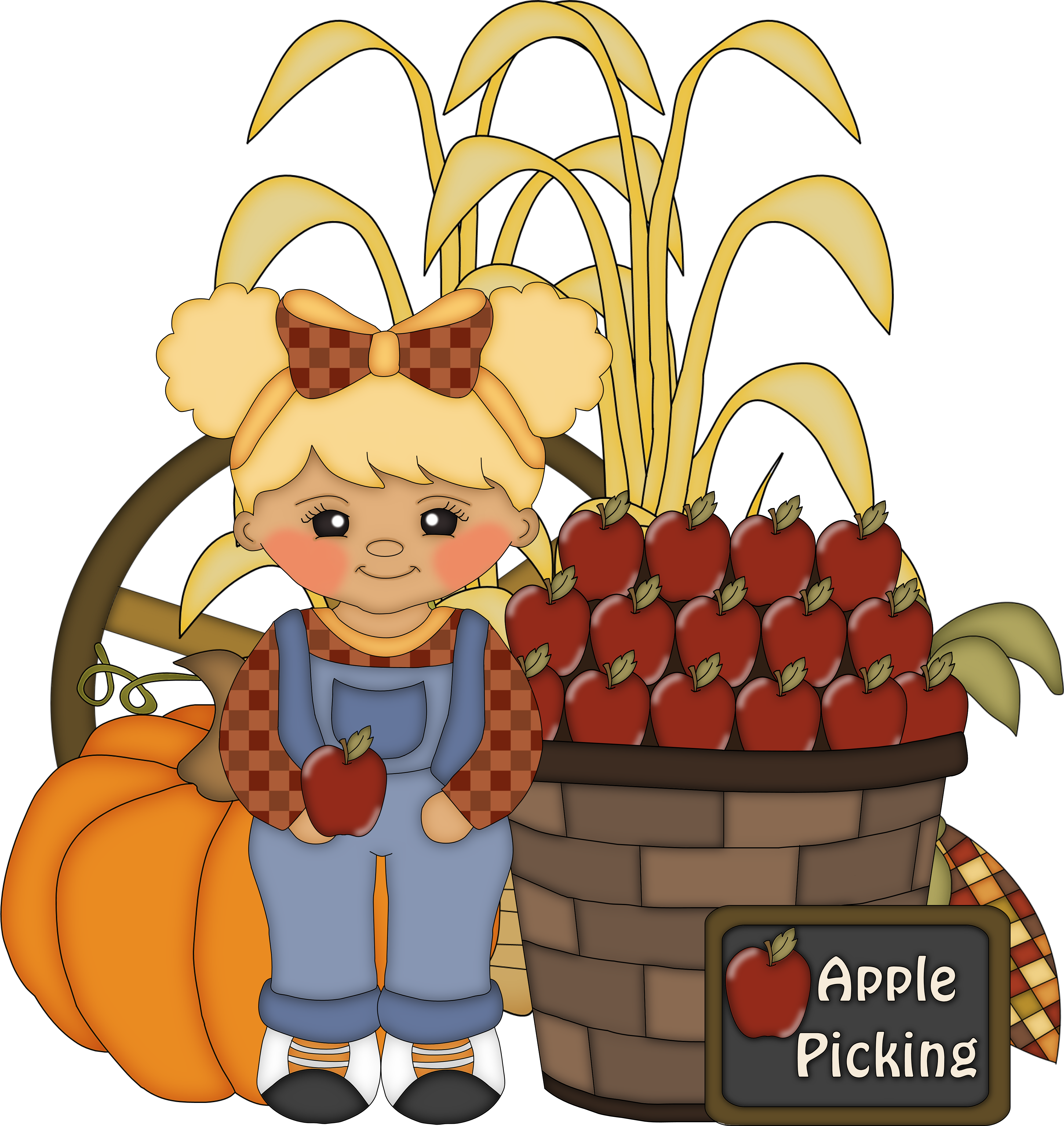 clip art royalty free Bobbing for apples clipart. Magazine homeschooled kids fall.